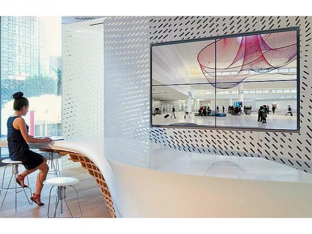 La oficina moderna de su empresa con LG HI-MACS®