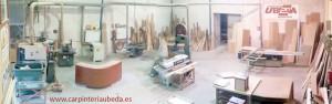Vista panorámica de la carpintería Úbeda de Almería