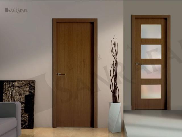 Puertas lisas con estilo sencillo